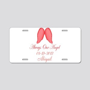 Pink Always Our Angel Aluminum License Plate